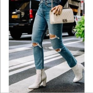 Blogger fave white boots